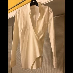 AKRIS PUNTO Wrap Blouse